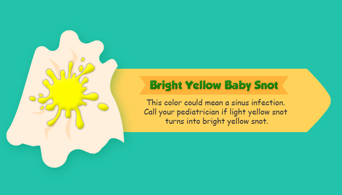 If your baby's light yellow snot turns to a neon or bright ...