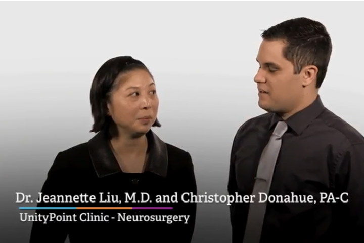 Dr. Jeannette Liu and Chris Donahue, PA-C