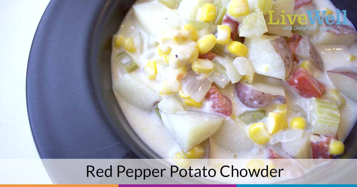 Healthy Red Pepper Potato Chowder