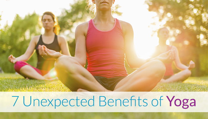 unexpected benefits of yoga, woman in yoga pose