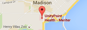 UnityPoint Health - Meriter Madison map